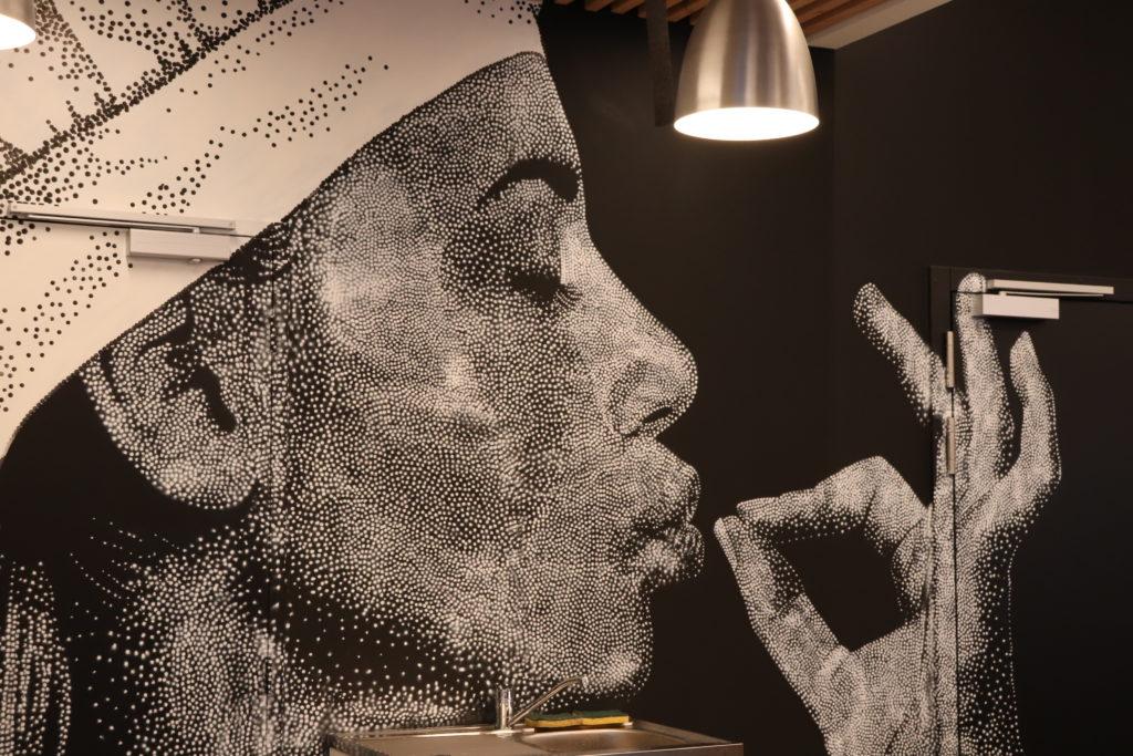 Fresque salle de restaurant la fraterne